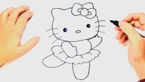 aprende a dibujar a hello kitty facilmente