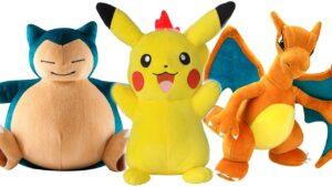Peluches de Pokemon y Pikachu